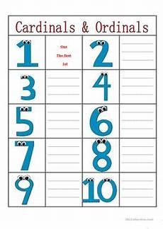 14 free esl ordinals worksheets