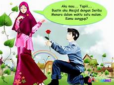 Foto Kartun Pasangan Muslim Romantis Kumpulan Gambar
