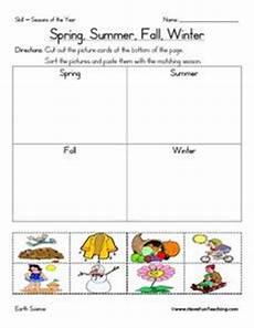 spring summer fall winter 1st 2nd grade worksheet lesson planet