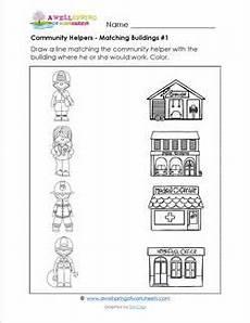 image result for buildings in the community worksheet community helpers worksheets