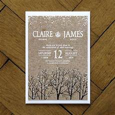 winter snow wedding invitation feel good wedding invitations