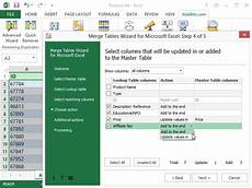 merge tables wizard for microsoft excel download