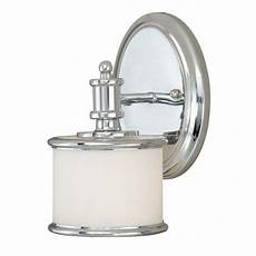 new 1 light wall sconce lighting fixture chrome frosted opal glass ebay
