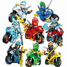 8stk ninjago motorcycle set minifigures mini figures