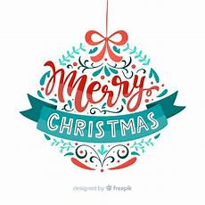merry christmas globe lettering vector free download
