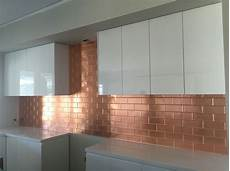 pressed metal splashback by sydney pressed metal this is our brick panel pressed into copper