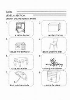 15 best images of position words worksheets for preschool kindergarten position words