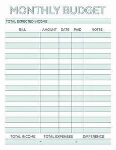 monthly budget planner free printable worksheet savor savvy