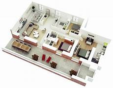 three roomed house plan 25 more 3 bedroom 3d floor plans