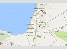 google map of israel today