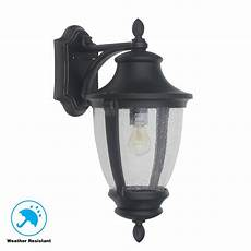 wall light for home home decorators collection wilkerson 1 light black outdoor wall 23452 the home depot