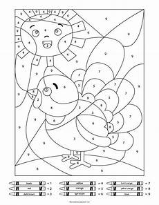 color by number thanksgiving coloring pages 18152 thanksgiving color by number worksheets simple everyday