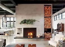 Wohnzimmer Im Landhausstil Gestalten Kamin Als