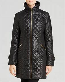 via spiga coats via spiga zip front quilted coat in black lyst