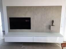 tv wand hängend tv wand mit wei 223 em lowboard und r 252 ckwand aus beton cir 233