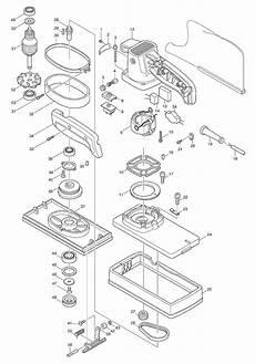 buy makita 9045n replacement tool parts makita 9045n electric sander polisher parts diagram