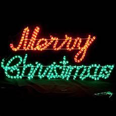 led animated merry christmas motif rope light