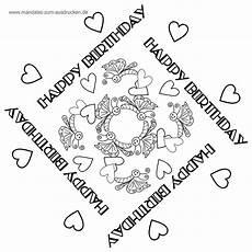 vorlagen herzen malvorlagen happy birthday free mandala vorlage happy birthday zum