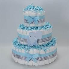 Blaue Windeltorte Basteln Home Nappy Cakes