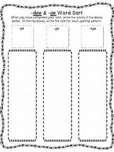 spelling worksheets dge and ge 22357 ge and dge word endings word sort and story by teaching with a mountain view