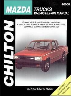 motor auto repair manual 1985 mazda b2000 electronic valve timing mazda b series pick ups 1972 1986 chilton owners service repair manual 0801990572