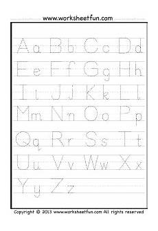letter tracing a z free printable worksheets worksheetfun printable alphabet worksheets