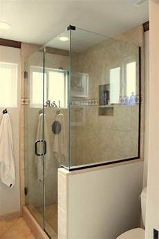 Frameless Shower Glass I Like The Half Privacy Wall For