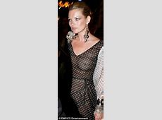 Kate Moss chooses daring see through dress for evening out