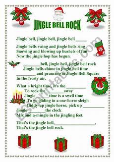 jingle bell rock esl worksheet by teresa alecrim