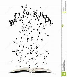 libro lettere d opened book with letters bursting out of i stock