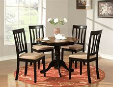 5 pc table dinette kitchen table 4 chairs oak ebay