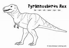Ausmalbilder Dinosaurier Fleischfresser T Rex Coloring