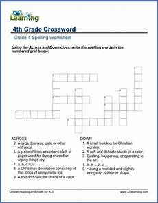 crossword worksheets for grade 4 k5 learning