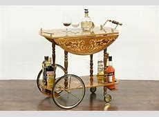 SOLD   Italian Marquetry Vintage Dessert or Tea Cart