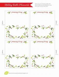 Place Cards Template Blank Lemon Squeezy Day 12 Place Cards