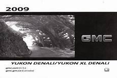 car owners manuals free downloads 2009 gmc yukon xl 2500 electronic toll collection 2009 gmc yukon denali yukon xl denali owner s manual
