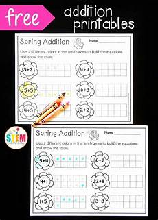 beginner worksheets 19292 ten frame addition with images math kindergarten math centers kindergarten