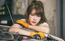Wallpaper Sitting Photo Asian Girl Cute