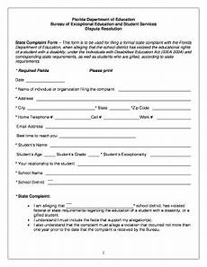 fdoe ese complaint form fill online printable fillable