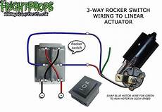 3 way rocker switch wiring to motors and linear actuators frightprops support training center