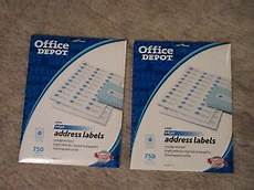 2x office depot white inkjet address labels avery 8160 1 quot 2 5 8 quot 750 ct ea 735854022006 ebay