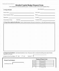 free 9 sle budget request form in sle exle format