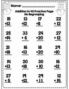 addition within 1000 with regrouping worksheets 9791 no prep second grade common winter math ela packet second grade math second grade