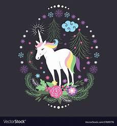 christmas card with unicorn royalty free vector image