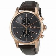 boss uhren herren schwarz hugo with gold stainless steel and black
