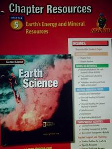 earth science glencoe worksheets 13304 glencoe earth science chapter resources 5 earth s energy p 0078269504 18 95 k 12