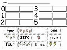 winter number word match kindergarten zero to ten by williams