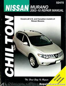 chilton car manuals free download 2009 nissan murano electronic toll collection nissan murano 2003 2010 suv repair service manual chilton