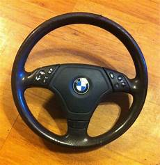 bmw e46 3 spoke multifunction sport steering wheel oem w