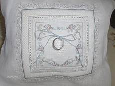 cross stitch wedding ring pillows this ring bearer